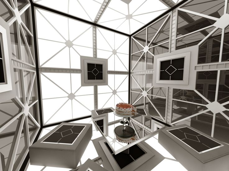 Cube / Portal style Brainstorming room. Design by ELD Poland