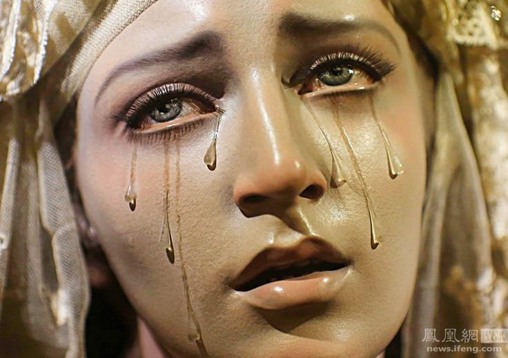 17 Best Images About Crying Mary Statue Lady