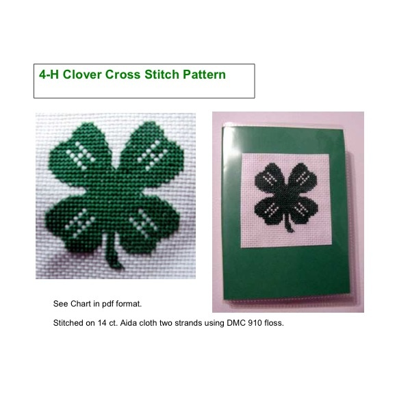 4 H Clover Logo Cross Stitch No Pattern But Easy Enough