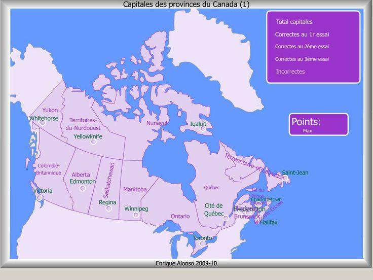 Cartes interactives avec la possibilité de créer des exercices.