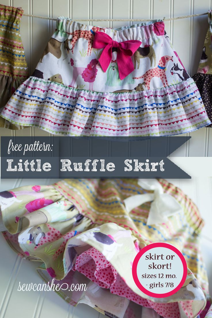 Little Ruffle Skirts {with a free pattern} — SewCanShe | Free Daily Sewing Tutorials