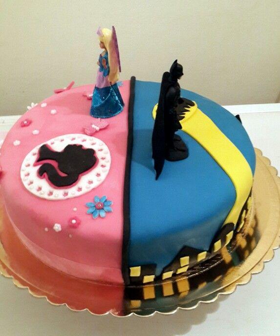 Home Design Ideas Cyprus: Half And Half Cake. Barbie And Batman