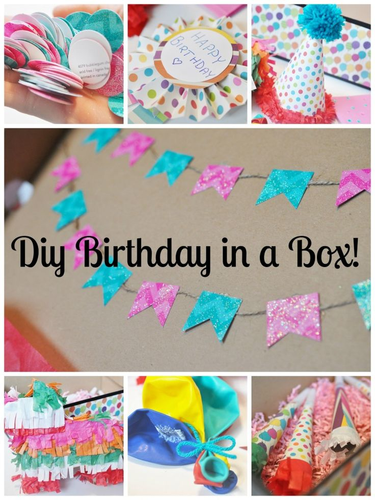 diy birthday in a box