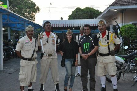 I and the mayor of the city of Yogyakarta 2011, Mr. Haryadi S. took a picture during a birthday party of a local old bike community...