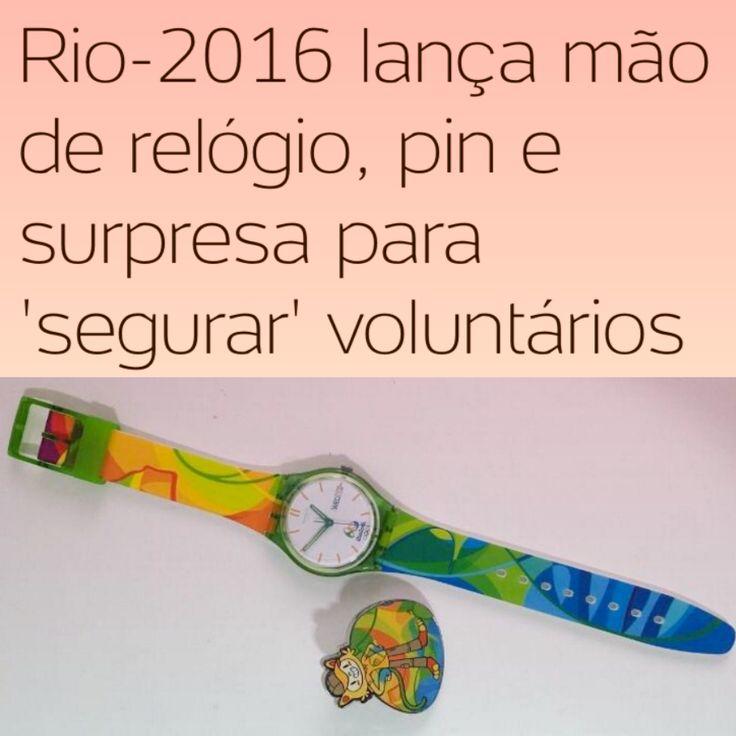 """Tentando segurar os """"Explorados Voluntários"""" com Mixarias [UOL] ➤ http://olimpiadas.uol.com.br/noticias/redacao/2016/08/11/rio-2016-lanca-mao-de-relogio-pin-e-surpresa-para-segurar-voluntarios.htm ②⓪①⑥ ⓪⑧ ①① #RiodeJaneiro"""