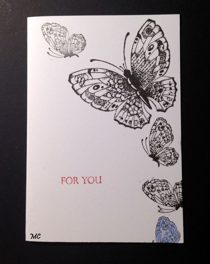 Chocolate Baroque - Batchwork Butterfly Rubber stamp