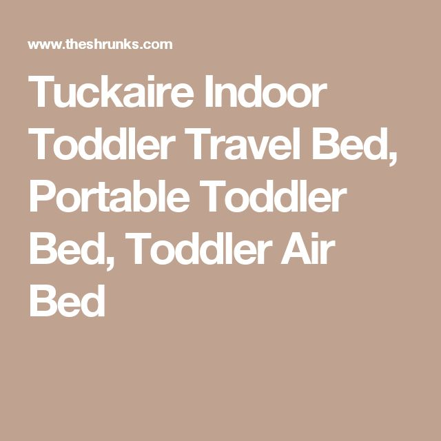 Tuckaire Indoor Toddler Travel Bed, Portable Toddler Bed, Toddler Air Bed