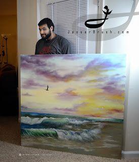 Jassar's Blog: Sunset beach view painting