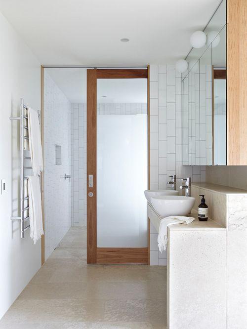 excellent bathroom sliding door houzz intended for