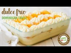 Dulce Frío Dominicano, Receta y Video