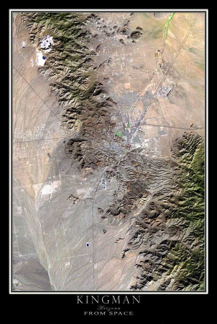 Kingman Arizona Satellite Poster Map 15 best