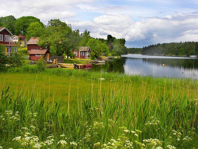 Midsummer in Stockholm Archipelago, Sweden