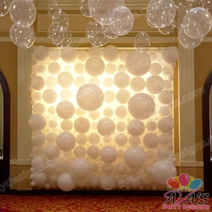 Wall Decorations For Engagement Party : Best ideas about balloon wall on