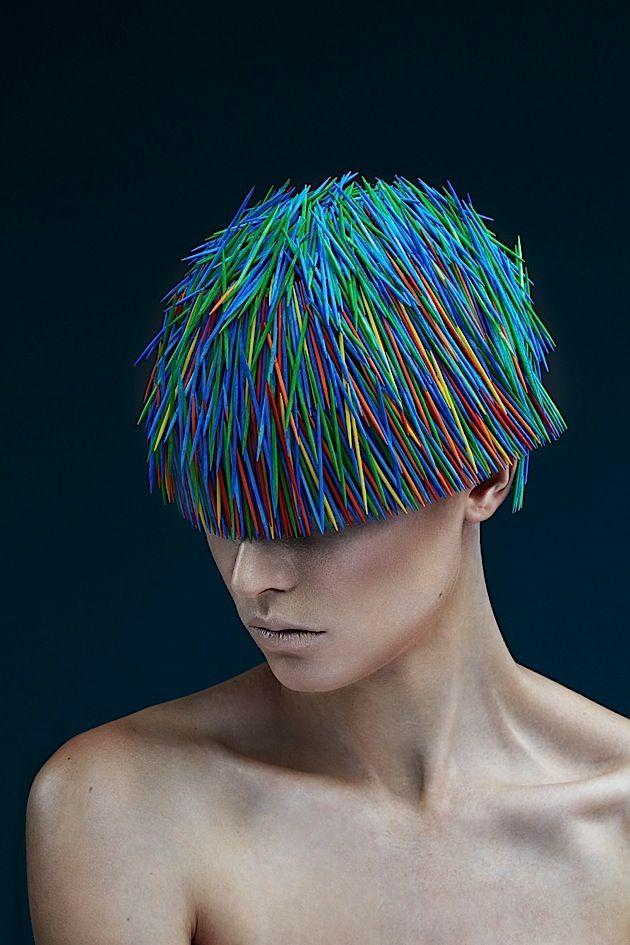 Fotografie: Coole Frisuren aus Zahnstochern   KlonBlog