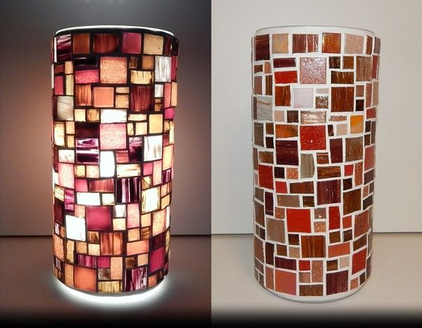 ART DECO MOSAIC LAMP; made of: glass mosaic; width: 11cm, height: 22cm; price: 61 EUR / 49 GBP / 69 USD;  © Gabor Abraham mosaic art