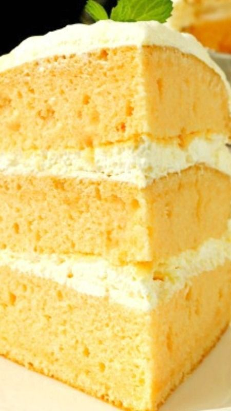 Orange Cream Cake with Cool Whip Pudding Frosting light and fluffy ...