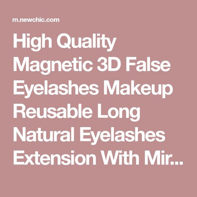 High Quality Magnetic 3D False Eyelashes Makeup Reusable Long Natural Eyelashes Extension With Mirror - NewChic Mobile