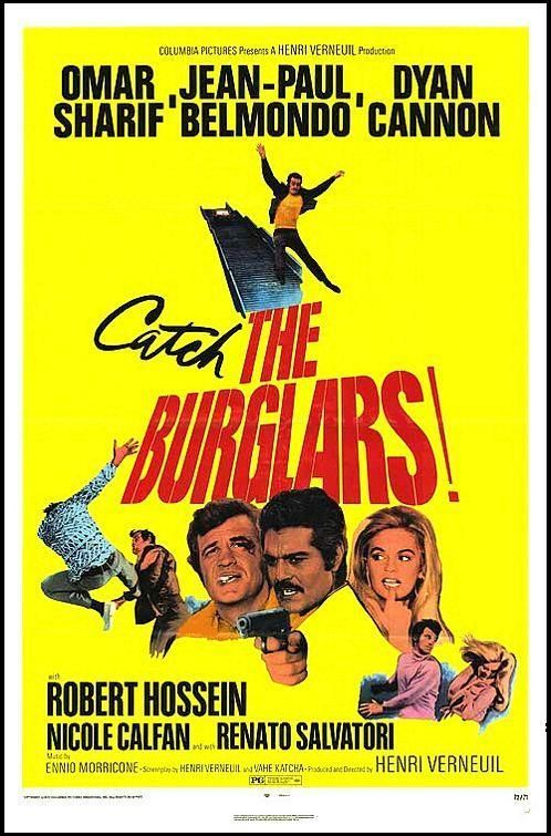 Le Casse (US title: The Burglars) is a 1971 movie directed by French director Henri Verneuil, starring Jean-Paul Belmondo, Omar Sharif, Dyan Cannon and Robert Hossein. It is based on the 1953 novel by David Goodis and revolves around a team of four burglars chased by a corrupt cop in Athens. It's a remake of the 1957 film The Burglar with Jayne Mansfield.