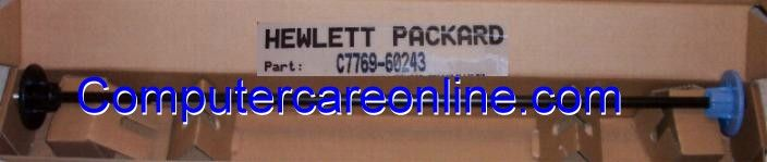Hewlett Packard C7769-60243 / C2390A DesignJet 500 / 510 / 800 42-inch rollfeed spindle rod assembly - Includes spindle hubs and end caps #designjet500 #designjet800 #spindle #rollfeed #hp #computercare