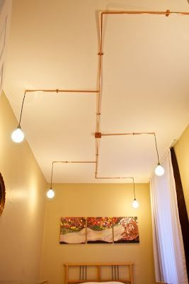 Developments from Lighting and Decor World: Home Lighting with Copper Pipes from Hedef Electric