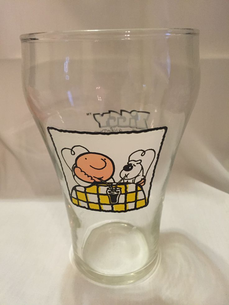 1977 Ziggy and Fuzz Larger Pilsner Glass! For Sale at The Silly Sparrow Shop on Etsy. Stop by for more vintage glasses, children's toys & books, and so much more! :)