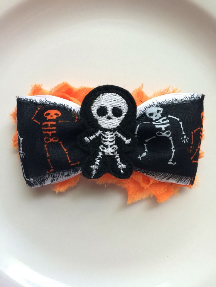 A personal favorite from my Etsy shop https://www.etsy.com/listing/465916151/halloween-hair-bow-shabby-chic-hair-clip