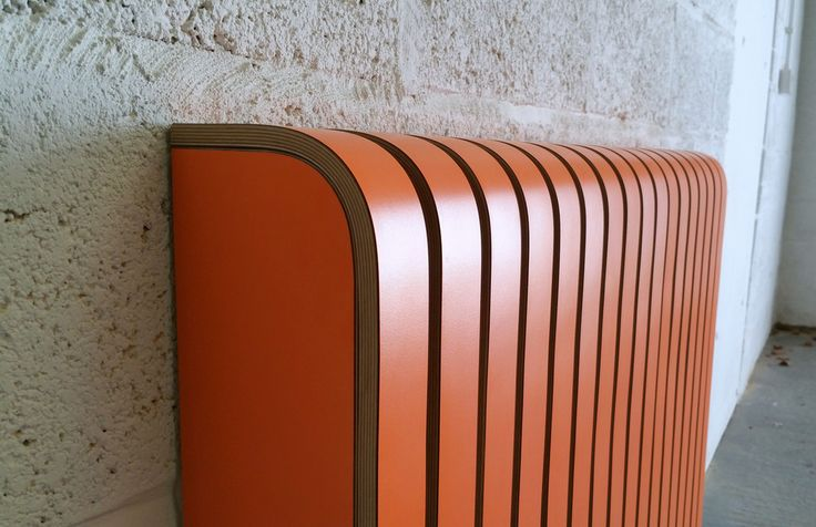 'Orange' Laminate Radiator Cover