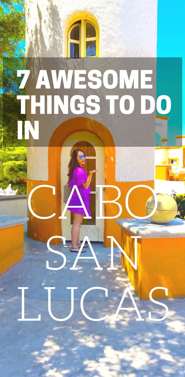 7 Fun Things To Do In Cabo San Lucas including where to swim, snorkel and get the best tacos!