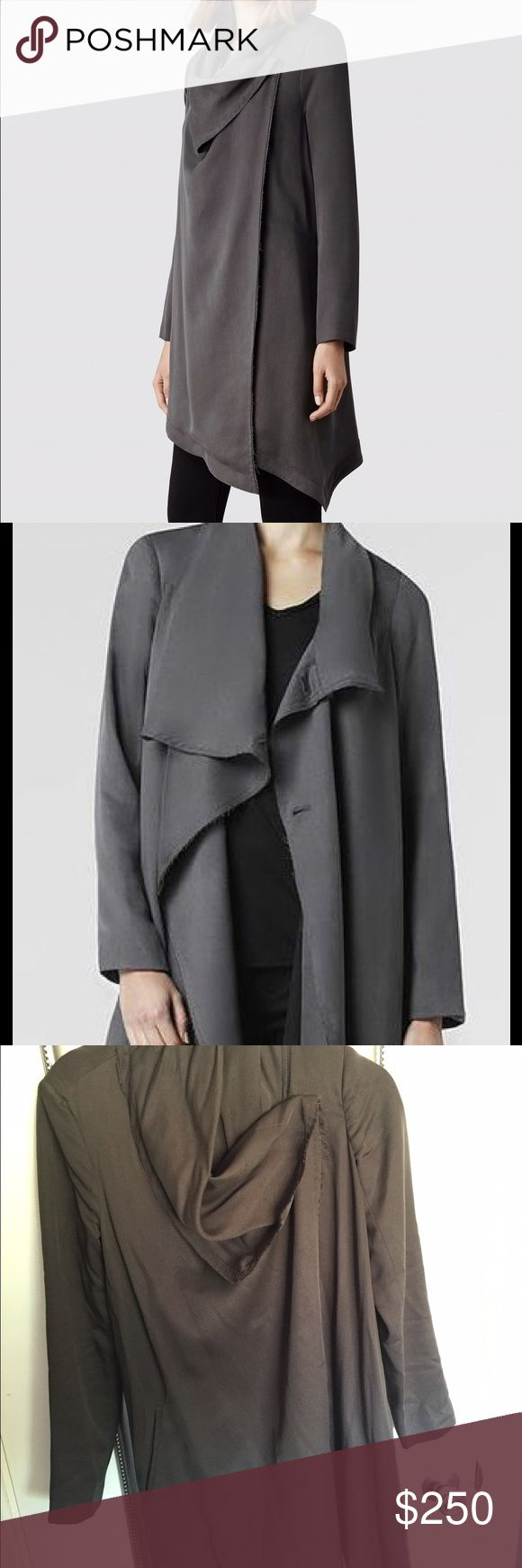 AllSaints Coat Size 4. Grey. Small stains. All Saints Jackets & Coats Trench Coats