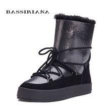 Зимние Ботинки женские дубленки snowboots черный, белый цвет синий 35-40 Бесплатная доставка bassiriana(China (Mainland))