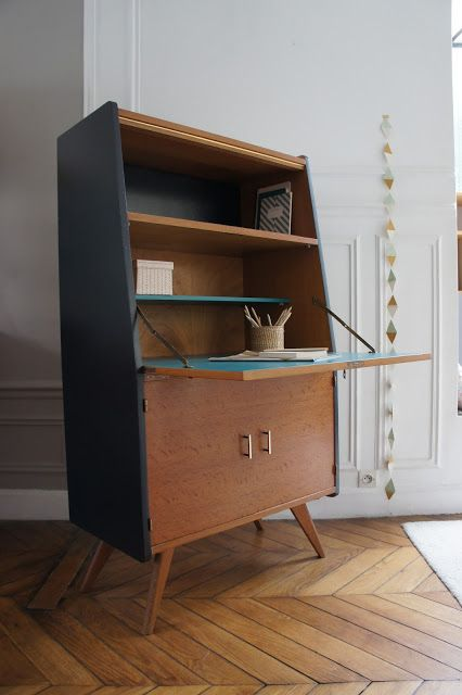 les 25 meilleures id es de la cat gorie bureaux de secr taire peints sur pinterest bureau de. Black Bedroom Furniture Sets. Home Design Ideas