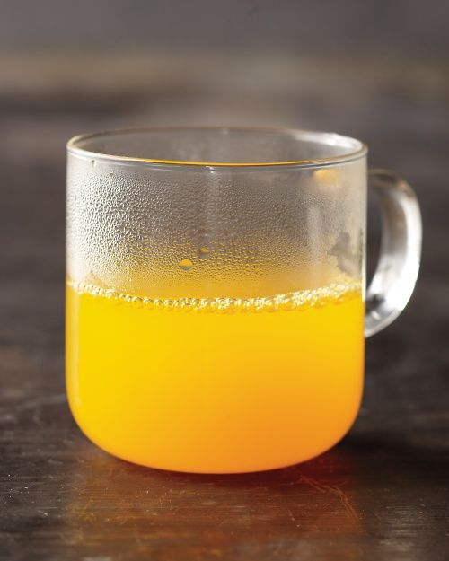 Golden Elixir - sip on throughout the day during detox (1 cup hot water, 1 tbsp lemon juice, 1/8 tsp turmeric, 1/8 tsp ground ginger, cayenne, honey)