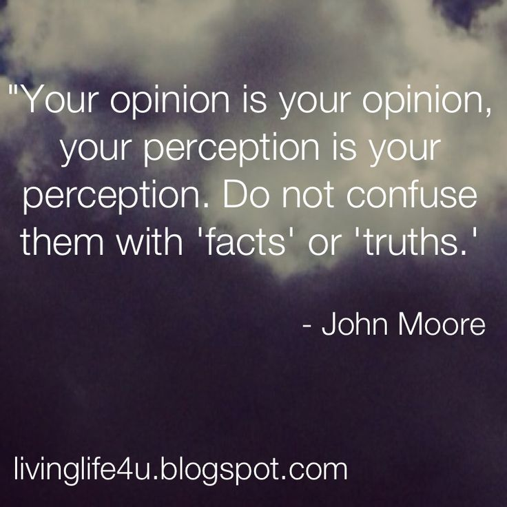 """Live YOUR Life!: """"Is Your Perception Your Reality?"""""""