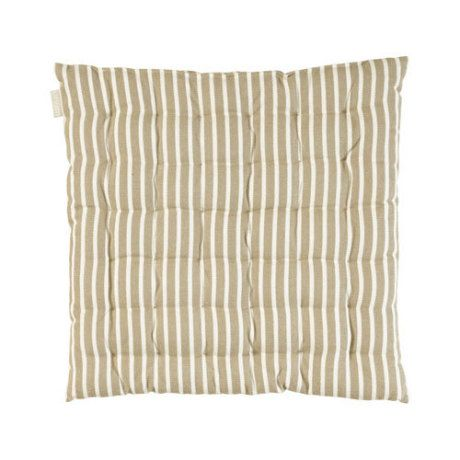 Linum Beige Camargue Stripe Seat Pads - Trouva