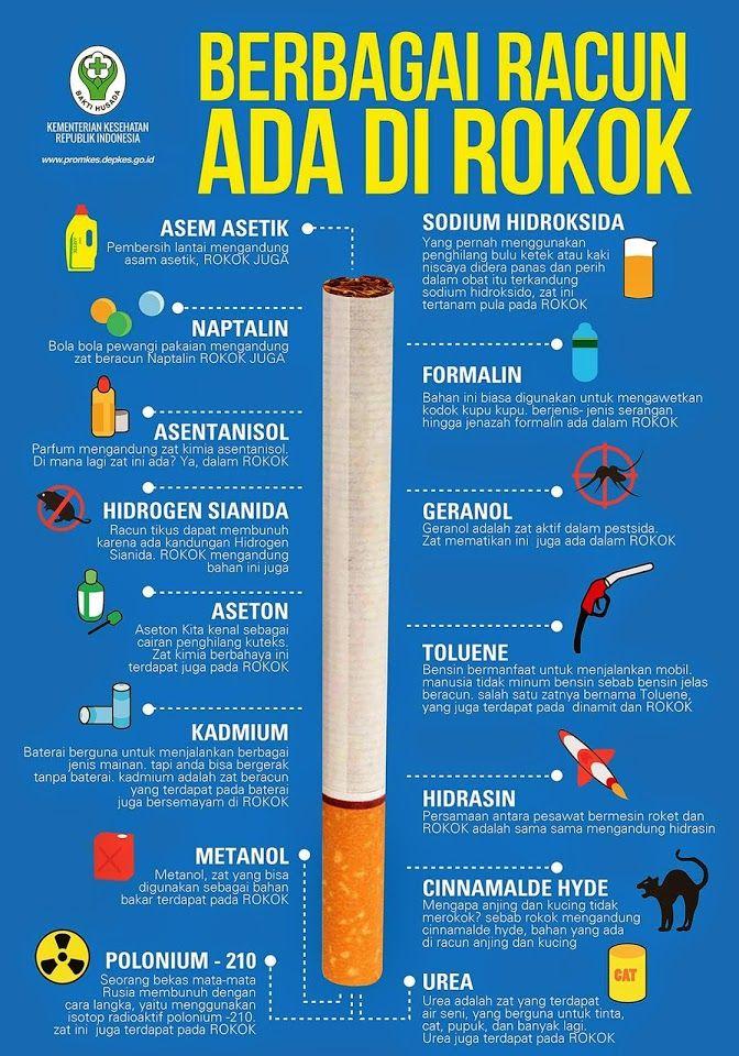 Berbagai Racun Dalam Rokok ~ Infografis Kesehatan