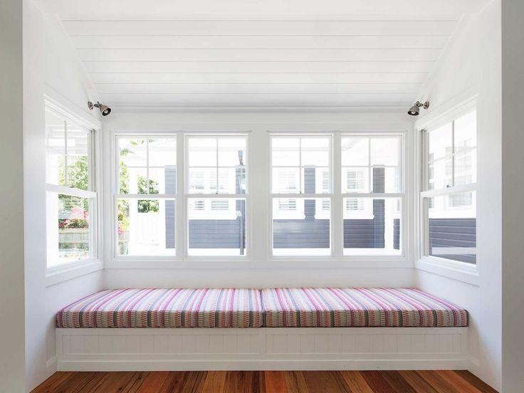 Stritt Design & Construction | Avalon Village Residence. Hamptons style. Window seat.