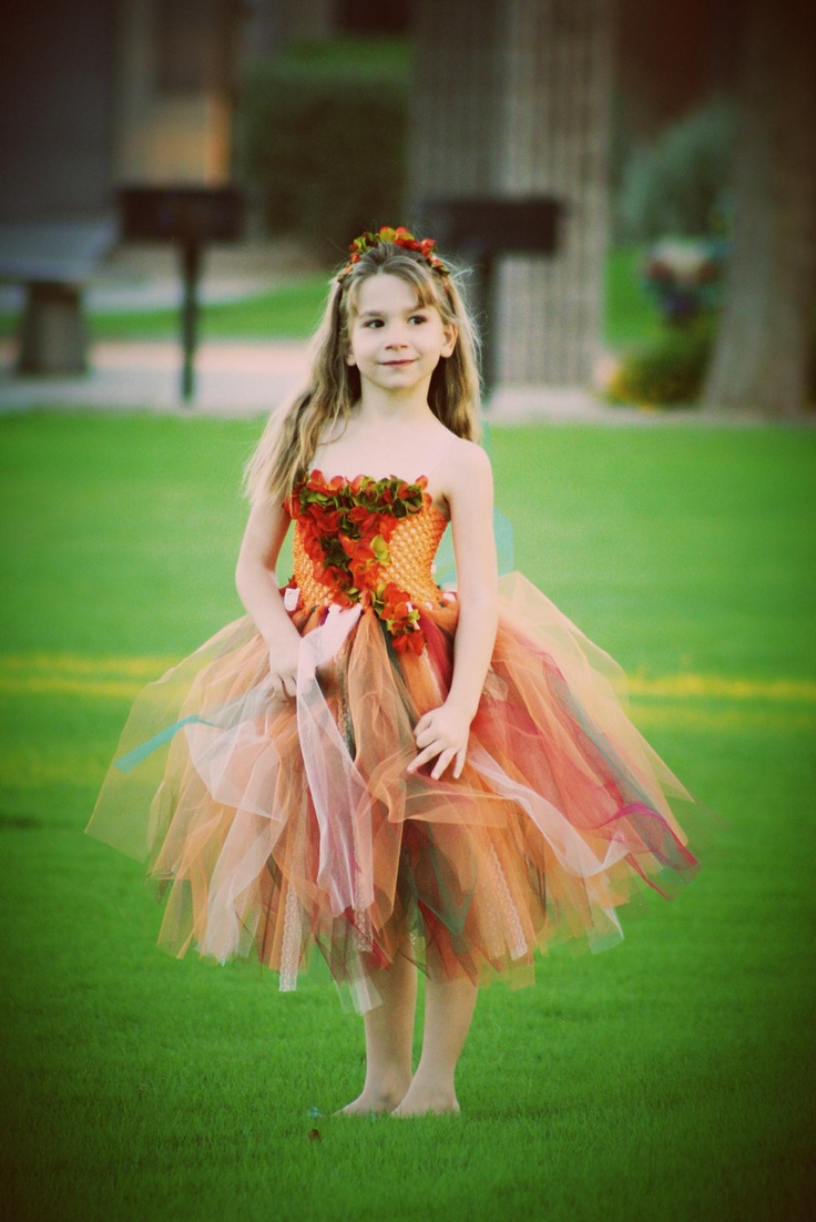"The ""Autumn breeze"" fall  tutu dress great for flower girls, fall pictures, weddings,thanksgiving, photograpy prop. $69.00, via Etsy."