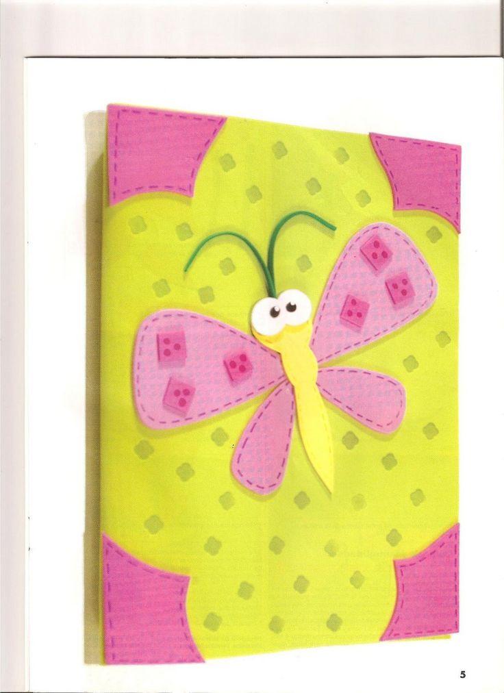 Resultado de imagen para cuadernos decorados en foami con animales