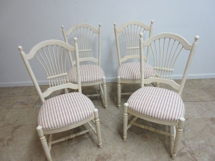 4 Ethan Allen Country French Paint Distressed Dining Room Side Chairs By  ZbrothersFurniture On Etsy Https