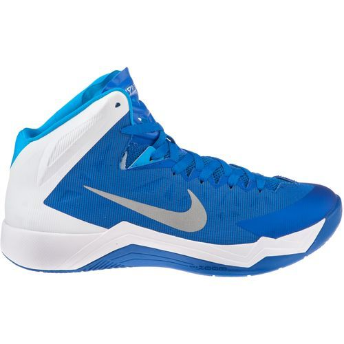 nike basketball shoes blue and white caign overview