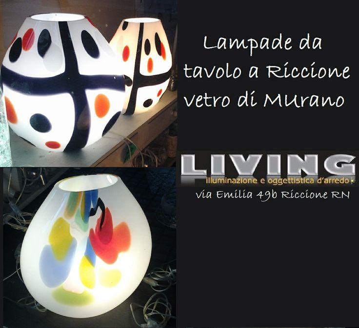 lampade di Murano da Tavolo zona Giorno e Notte con lampade a Basso consumo o Led opaline
