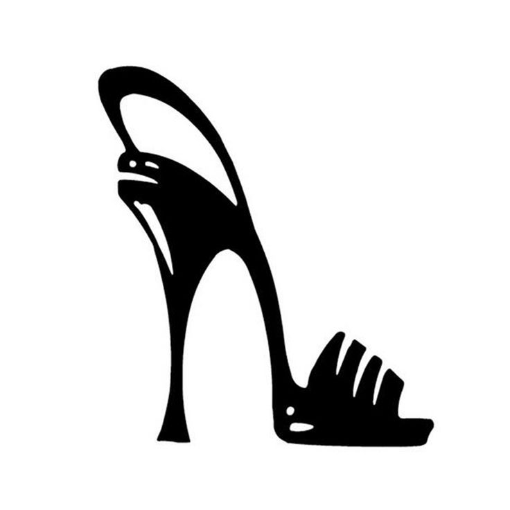 Wholesale 5pcs,10pcs,11.5*13CM HIGH HEELS Sexy Girl Car Sticker Personalized Heels Motorcycle Car Styling Car Stickers
