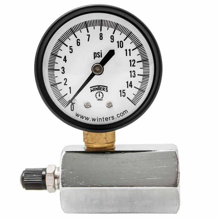 Petg Series 2 in. Gas Test Pressure Gauge with Test Valve Adapts to 3/4 in. Fnpt and Range of 0-15 psi/kPa