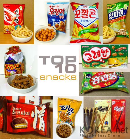 Top 10 Korean Snacks - can't wait to try all of these.  Will see what I can find locally and get snacking!