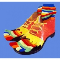 Vinyl Clown Shoes w/ Toe Socks: $25.00