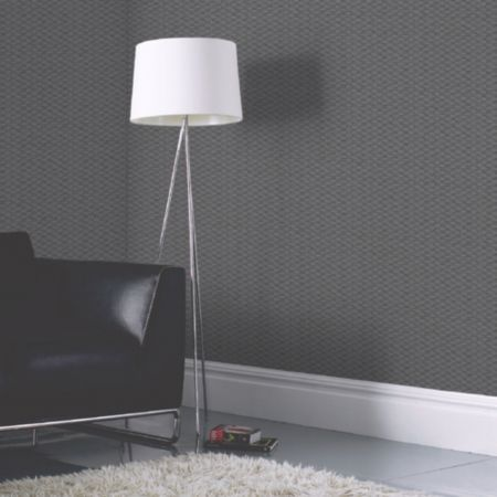 Plain Rectangle Grey Textured Blown Vinyl Wallpaper | Departments | DIY at B&Q