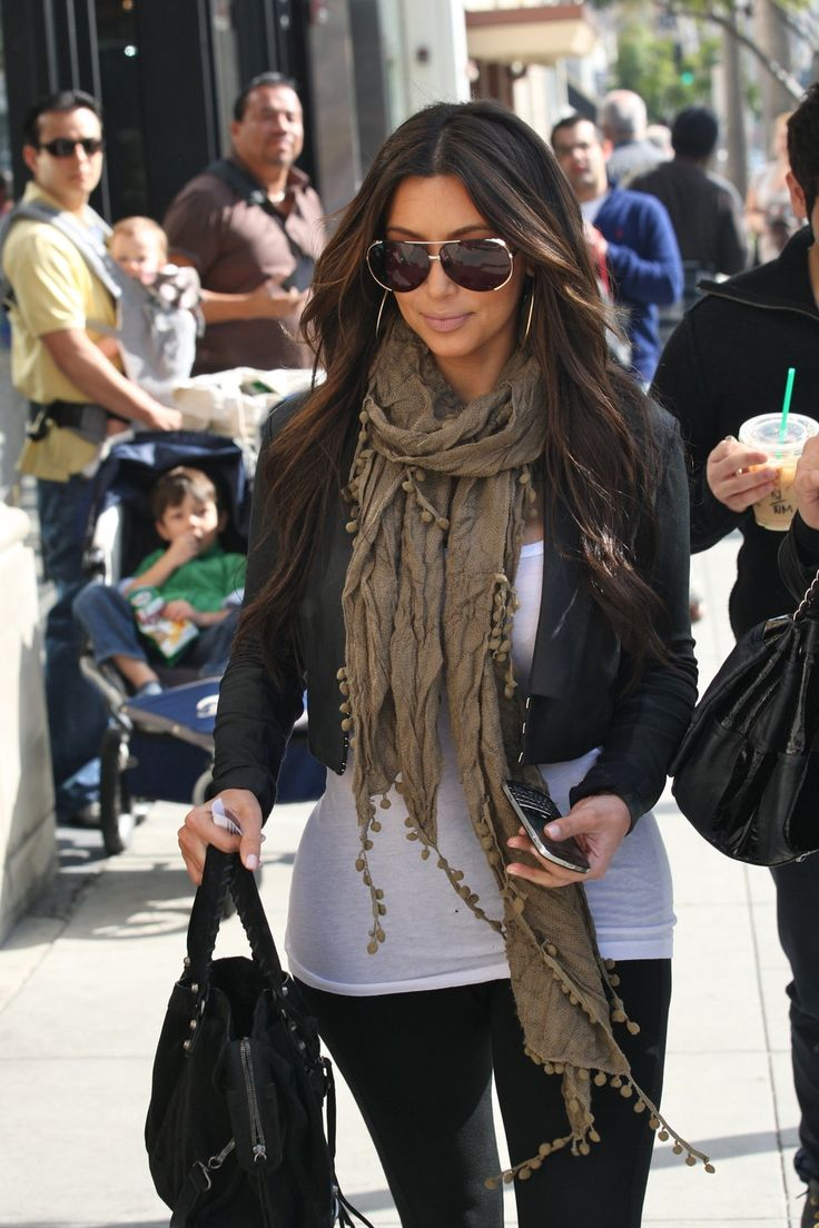 Use scarf or colored purse for pop of color!! :)