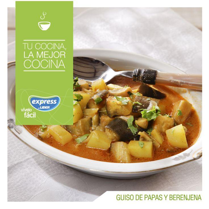 Guiso de papas y berenjena. #Recetario #Receta #RecetarioExpress #Lider #Food…