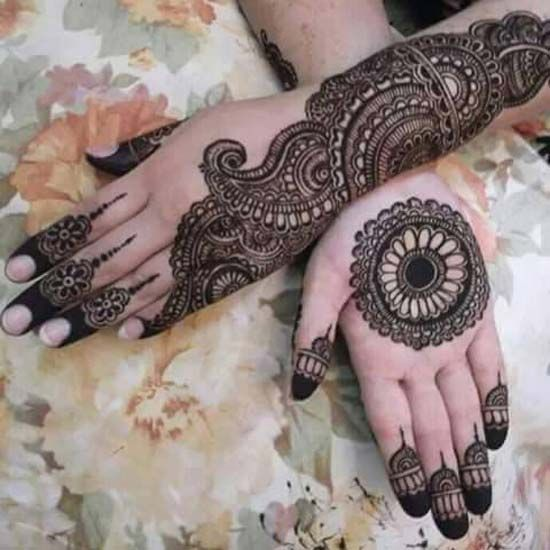 latest wedding mehndi design for bridals