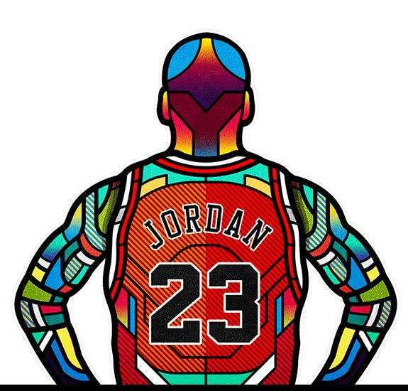NBA Legends Digital Stained Glass Art | Dessin, Affiche ...